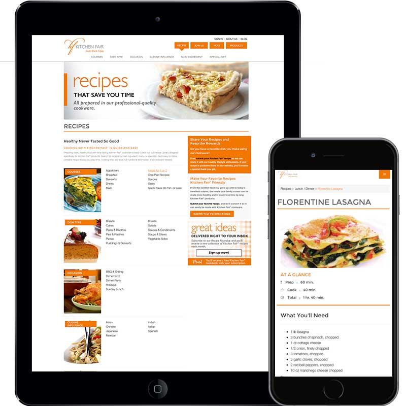 Linda Hanus | Kitchen Fair Website Design